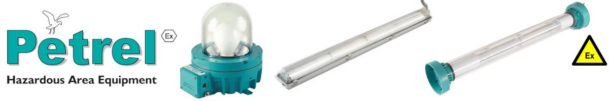 Petrel Lighting Floodlights Fluorescent Wellglass - Hazardous Area Zone 1 Zone 2 ATEX