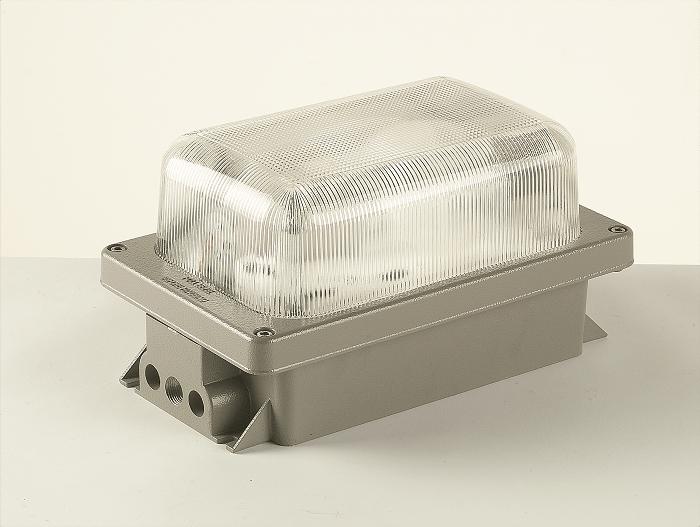 DN Series EX nR Bulkhead Luminaire (Up to 200W Lamps) - Zone 2 Hazardous Area ATEX Certified