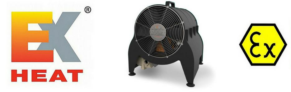 EXHEAT MFH Hazardous Area Fan Heater (Portable) - ATEX Certified Zone 1 & Zone 2