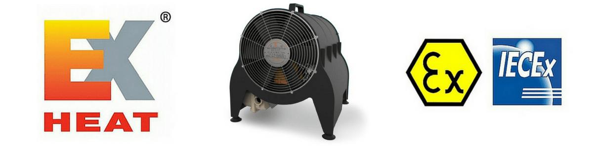 EXHEAT MFH Hazardous Area Fan Heater (Portable) - ATEX Certified Zone 1 & Zone 2