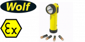 Wolf ATEX LED Torches (Zones 0, 1, 2, 21 & 22 Hazardous Areas)