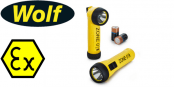 Wolf ATEX Safety LED Torches (Zones 0, 1, 2, 20, 21 & 22 Hazardous Areas)