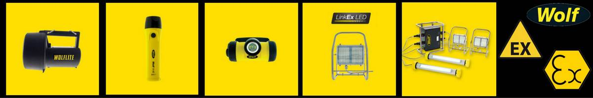Wolf - Hazardous Area Zone 1 & Zone 2 Handlamps, Headlamps, Torches & Floodlights (ATEX Certified)