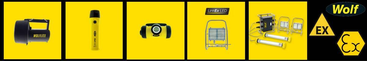 Wolf - Hazardous Area Zone 1 & Zone 2 Handlamps, Headlamps, Torches & Floodlights (ATEX Certified)
