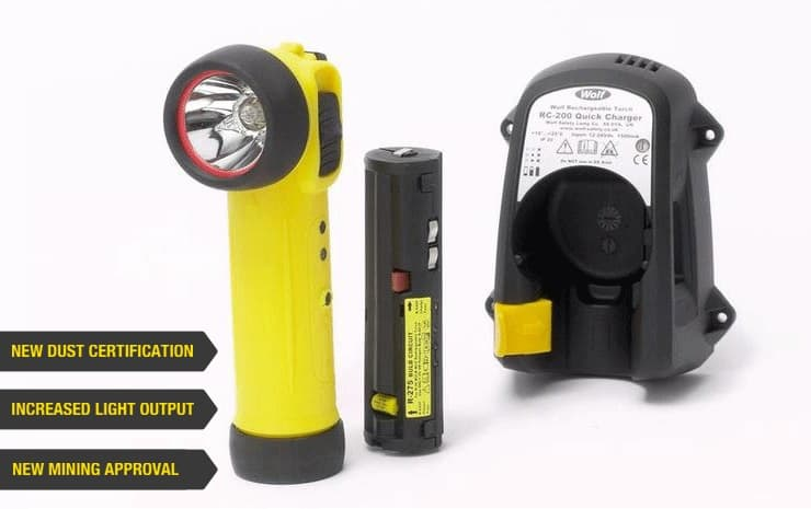 Wolf R-50 & R-55 Rechargeable Torch (Zone 1 & Zone 2 Hazardous Areas)