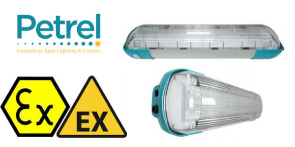 Zone 1 Fluorescent Hazardous Area Lighting ATEX Ex ed - Petrel 9 Series
