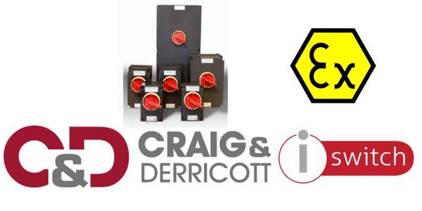 ATEX Zone 1 & Zone 2 Isolator - 3P+Aux - Craig & Derricott EXZ1SDR04030