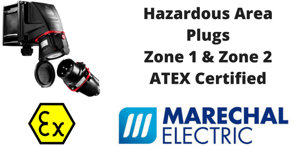 Hazardous Area Plugs - Zone 1 & Zone 2 Plugs, Sockets & Connectors (Explosion Proof - ATEX & IECEx)