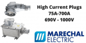High Current Plugs – Marechal 75A-700A Power Connector Plugs & Sockets (Decontactors)