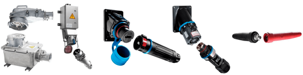 High Current Plugs - Marechal 75A-700A Power Connector Plugs & Sockets (Decontactors)