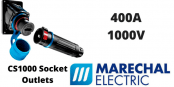 Marechal CS1000 400Amps Socket Outlets – 1000V IP66/67 IK08 Single Pole Power Connectors