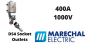 Marechal DS4 400Amps Socket Outlets – 1000V IP54/67 IK09 High Current Plugs & Sockets