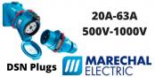 Marechal DSN Plugs 20A-63A Decontactors (IP66 IP67 IP69K)