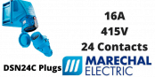 Marechal DSN24C Plugs – 24 Contacts 16A 415V IP66/67 Multi-Contact Connectors