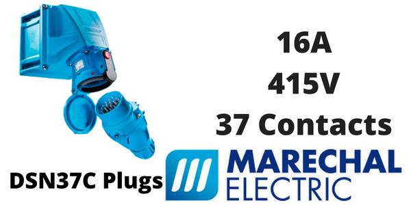Marechal DSN37C Plugs – 37 Contacts 16A 415V IP66/67 Multi-Contact Connectors