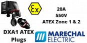 Marechal DXA1 Zone 1 & Zone 2 Hazardous Area ATEX Plugs