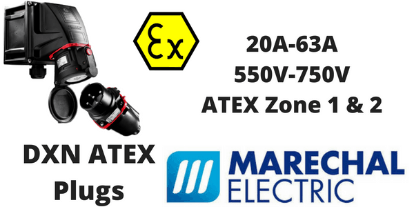 Marechal DXN Zone 1 & Zone 2 Hazardous Area ATEX Plugs