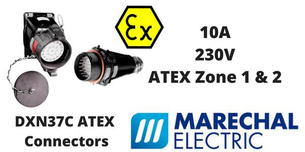Marechal DXN37C Hazardous Area Connectors ATEX (Zone 1 & Zone 2 Hazardous Area)
