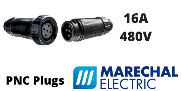 Marechal PNC Plugs 16A Decontactors – GRP Compact Connector (IP66 IP67 IP68)