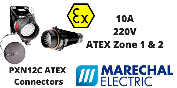 Marechal PXN12C Hazardous Area Connectors ATEX (Zone 1 & Zone 2 Hazardous Area)