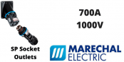 Marechal SP 700Amps Socket Outlets – 1000V IP66/67 IK08 Single Pole Power Connectors