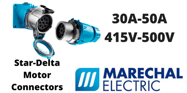 Marechal Star-Delta Motor Connectors - 7 Pole Connectors & Load Break Switches (30A-50A)