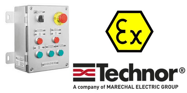 Push Button Control Station (Stainless Steel) Hazardous Area Zone 2 ATEX - Technor EFXE