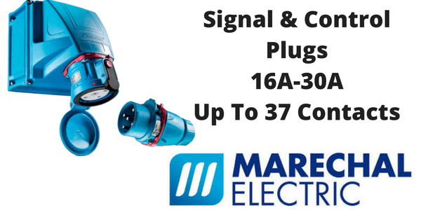 Signal and Control Plugs - Marechal 16A-30A Up To 37 Contacts (Decontactors)