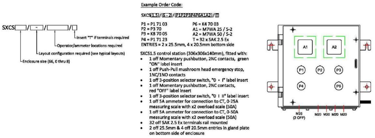 sxcs example order code