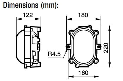 Zone 1 Zone 2 (21-22) ATEX Bulkhead Luminaires Flameproof – Appleton HBD
