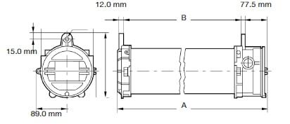 Zone 1 Zone 2 (21/22) Hazardous Area LED Luminaire Lighting ATEX – Appleton FDLED Dimensions