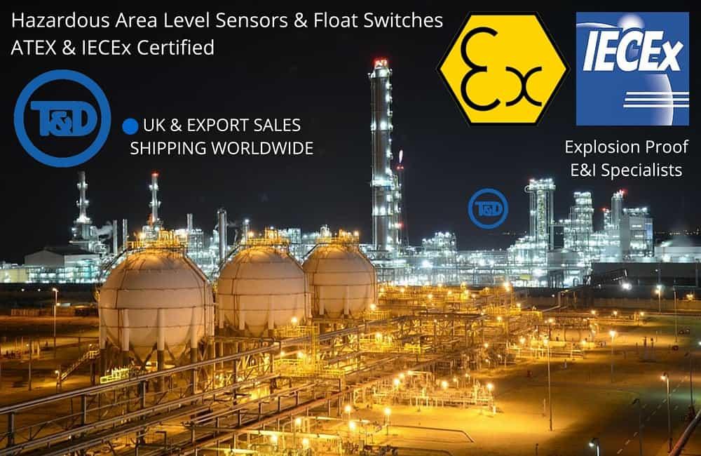 Hazardous Area Level Sensors & Float Switches - Deeter Gain CSA Approval