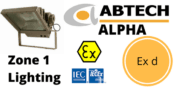 Zone 1 Flameproof Floodlight Hazardous Area Ex de ATEX IECEx – Abtech Alpha