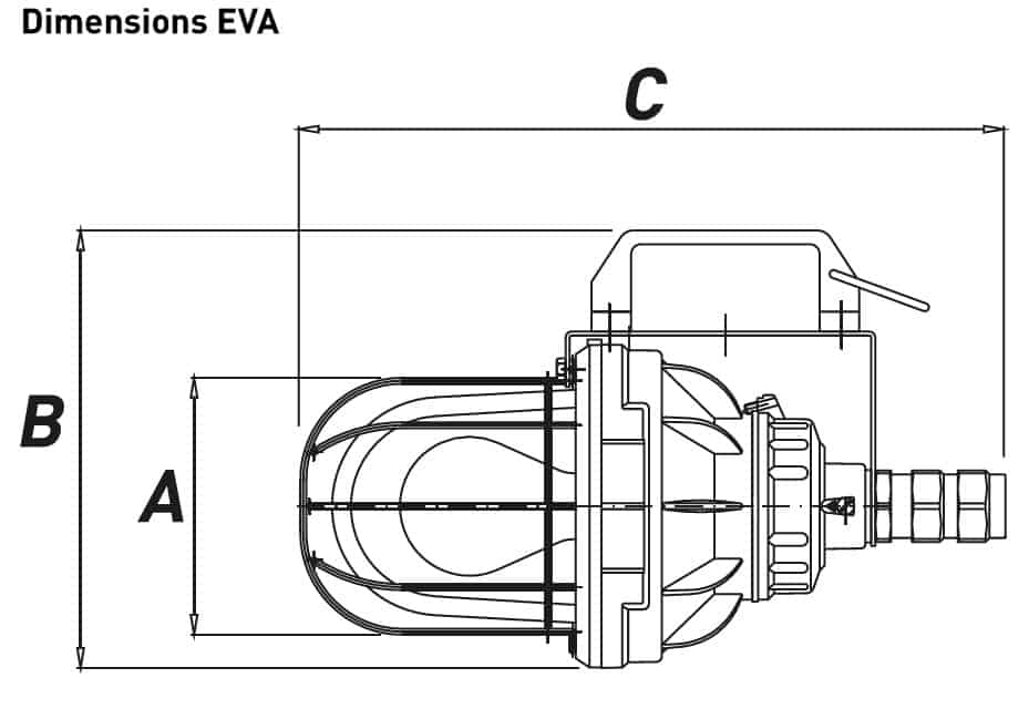 Explosion Proof Hazardous Area Technor EV Portable Wellglass Lighting - Dimensions