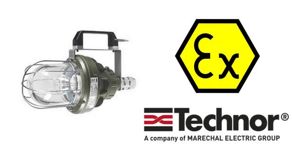 Ex d Lighting - Explosion Proof Hazardous Area Technor EV Portable Wellglass Lighting