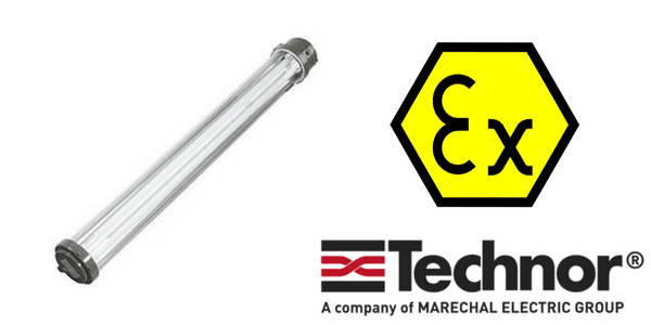 Ex e Lighting - Increased Safety Hazardous Area Technor EVF-P Fluorescent Lighting