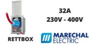 Marechal RETTBOX Plugs 32A 230V-400V Decontactor