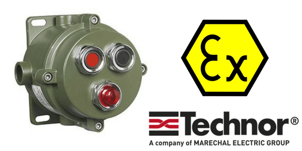 Push Button Control Station (Aluminium) Hazardous Area Zone 2 ATEX - Technor CP/EFDCN