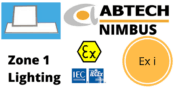 Zone 1 Intrinsically Safe LED Panel Hazardous Area ATEX IECEx Ex i – Abtech Nimbus