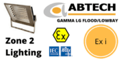 Zone 2 Low Glare LED Floodlight Ex i ATEX IECEx – Abtech Gamma LG Flood/Lowbay