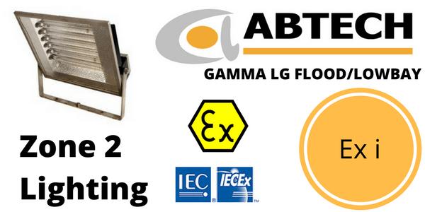 Zone 2 Low Glare LED Floodlight Ex i ATEX IECEx – Abtech Gamma LG Flood Lowbay