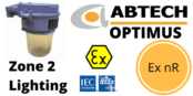 Zone 2 Wellglass Luminaire ATEX IECEx Ex nR Hazardous Area – Abtech Optimus