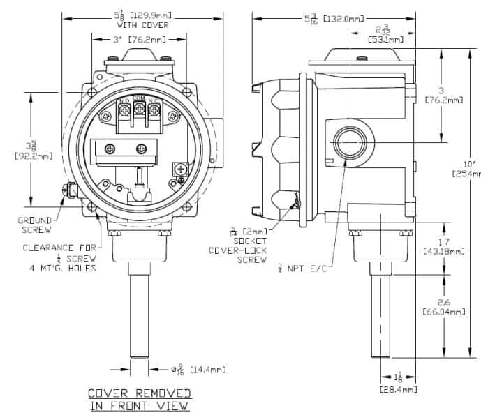 Hazloc Heaters B121-13272 - Dimensions