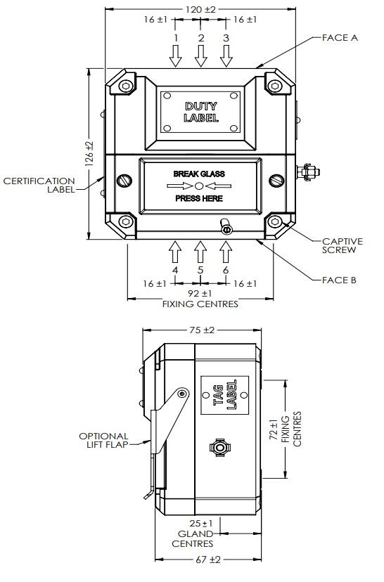 Eaton MEDC BG - Dimensions