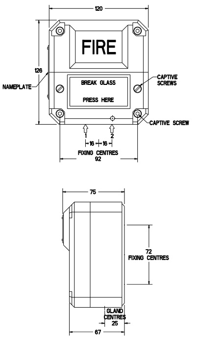 Eaton MEDC BG2 - Dimensions
