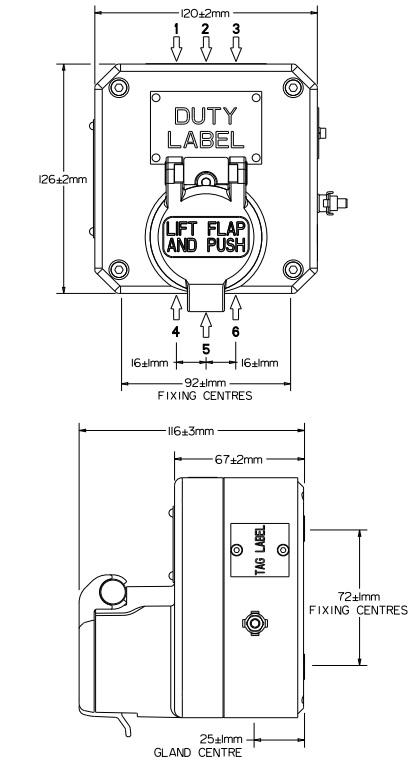 Eaton MEDC PB - Dimensions