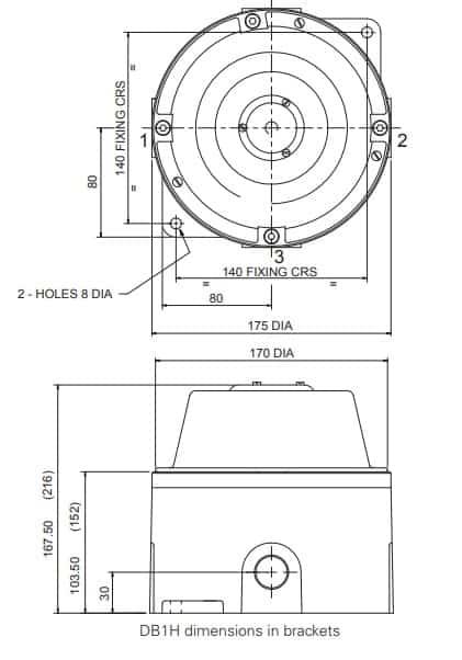 Eaton MEDC DB1 - Dimensions