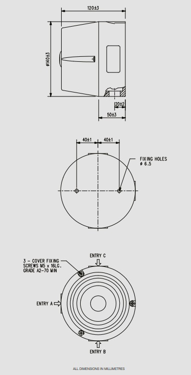 Eaton MEDC DB7 - Dimensions
