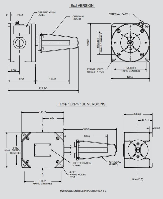 Eaton MEDC HD1 - Dimensions
