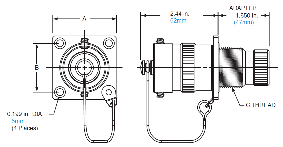 Amphenol EXM-A02 Hazardous Area Connectors